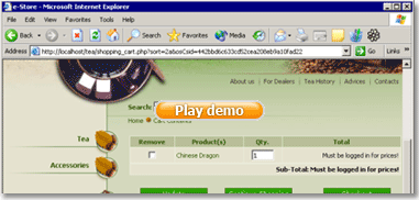 Play Demo Flash movie for bug tracking systems